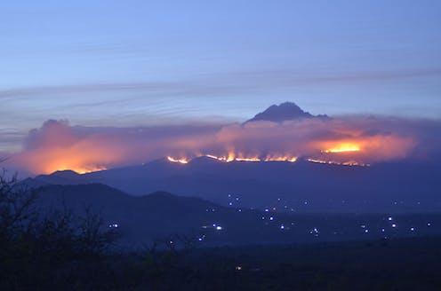 Fires on Kilimanjaro.