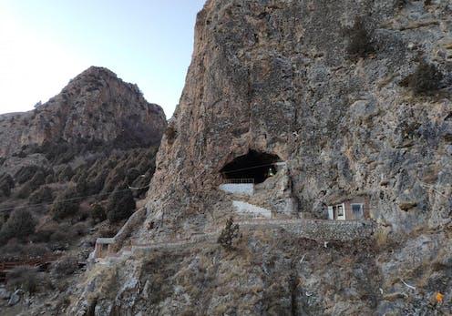 Exterior of Baishiya Karst Cave