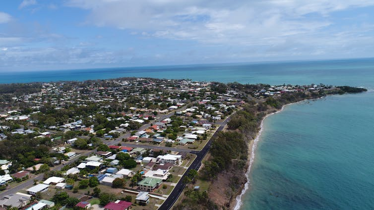 Aerial view of Hervey Bay, Queensland.