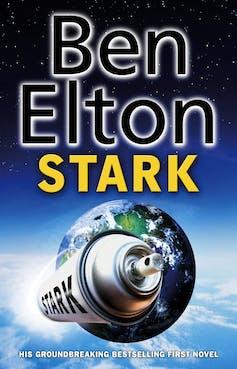 Book cover: aerosol cans as spaceship leaving Earth