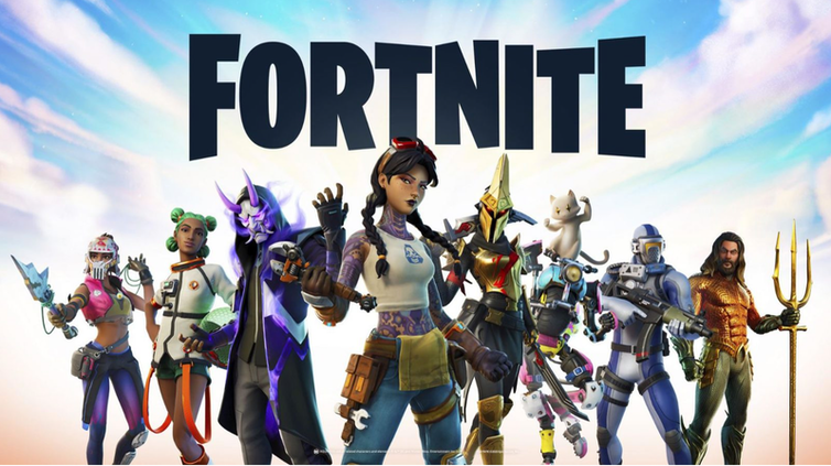 Array of characters from the phenomenally successful comuter game Fortnite