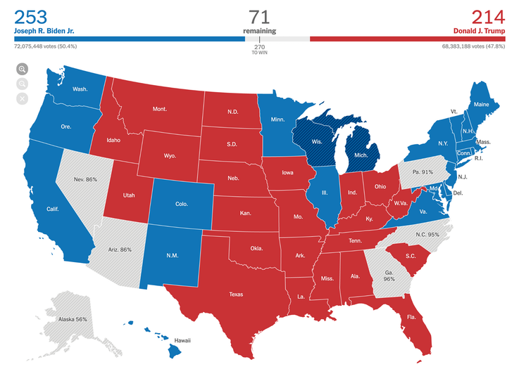 Map Of Us Polls How to read U.S. election maps as votes are being counted