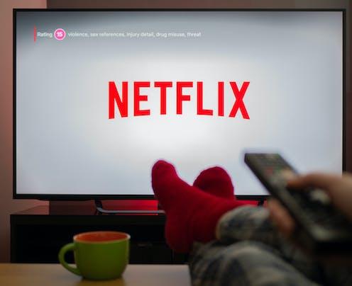 TV screen showing Netflix