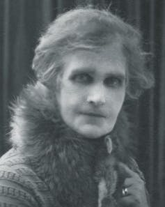 Portrait of a woman in fur stole