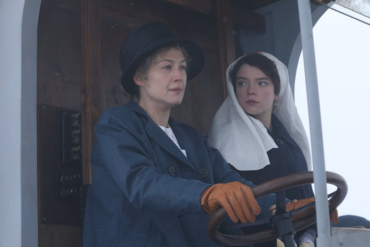 Marie and her daughter drive a WWI ambulance.