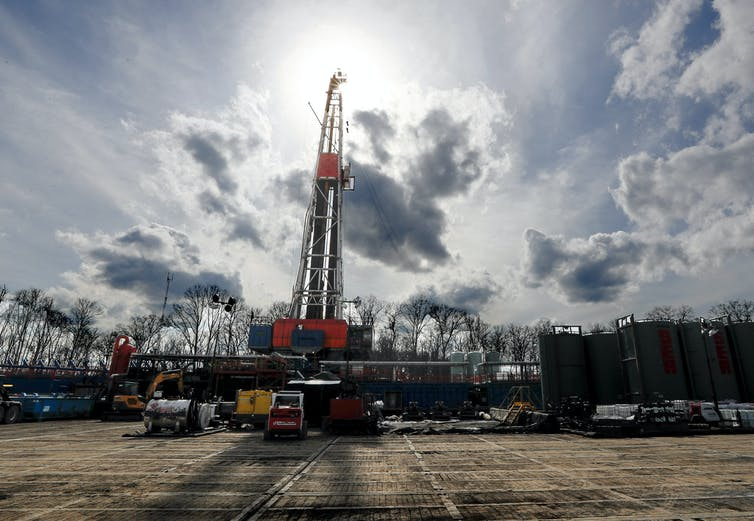 a shale gas drilling site in St. Mary's, Pa.