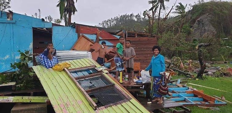 Damage from Cyclone Winston in Fiji, in February 2016.