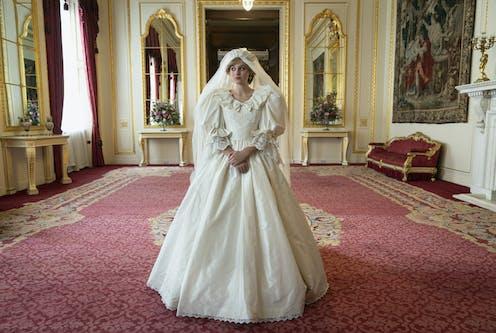 Diana in her wedding dress