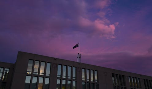 Parliament House at sunset