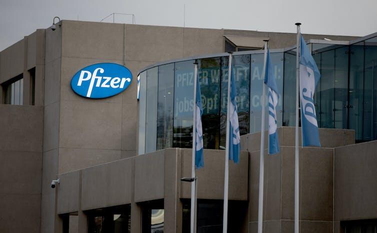 Pfizer's manufacturing plant in Belgium
