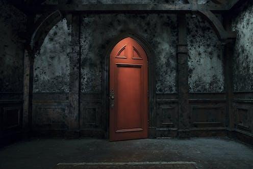 A red door.
