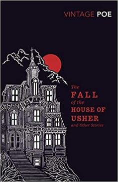 The Fall of The House of Usher cover featuring a gothic house.