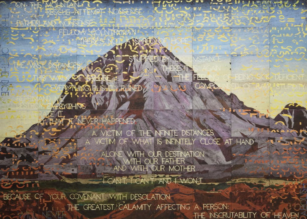 explainer what is postmodernism  imants tillers namatjira acrylic gouache on 64 canvas boards 203 x 284cm musi zhang
