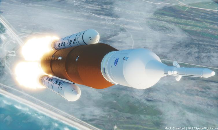Artist's concept of Artemis-1.