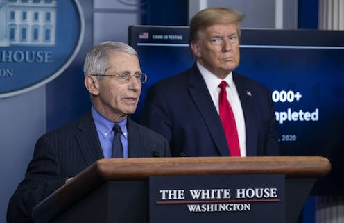 President Donald Trump and director of the National Institute of Allergy and Infectious Diseases  Anthony Fauci.