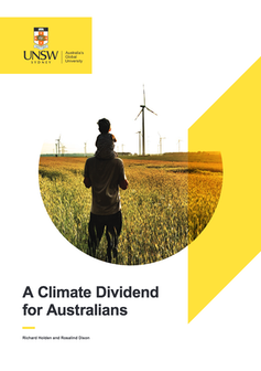 Cover of A Climate Dividend for Australians, UNSW, 2018.