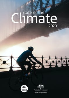 State of the Climate 2020 report cover.