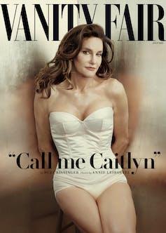 Vanity Fair magazine cover of Caitlyn Jenner