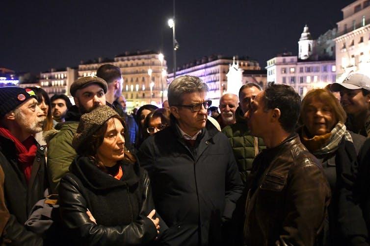 Jean‑Luc Melenchon lors d'une marche contre l'antisémitisme à Marseille le 19février 2019. L