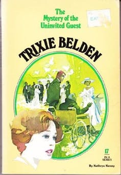 Book cover: Trixie Belden girl detective mystery