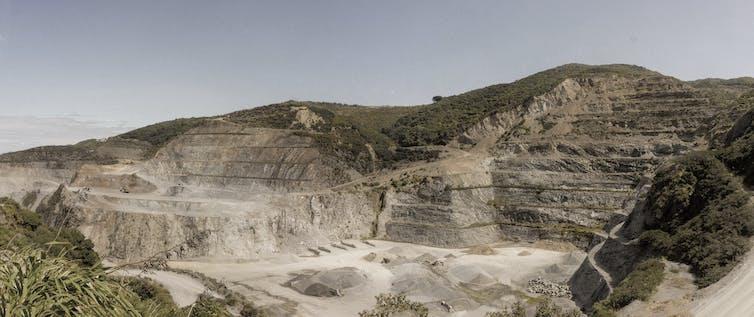 An open quarry site