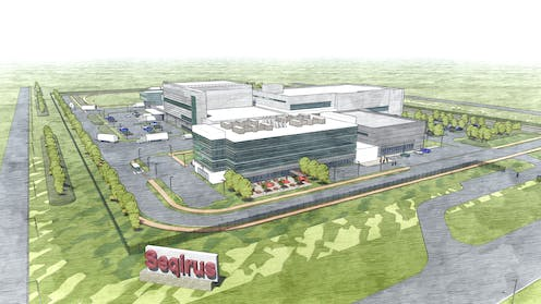 An artist's rendition of the Seqirus campus