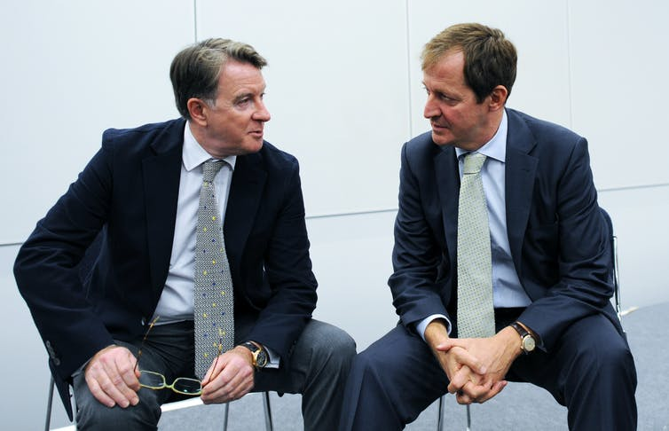 Peter Mandelson and Alastair Campbell.