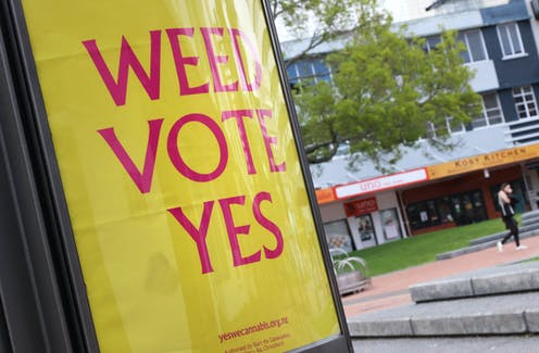 sign saying 'weed vote yes'