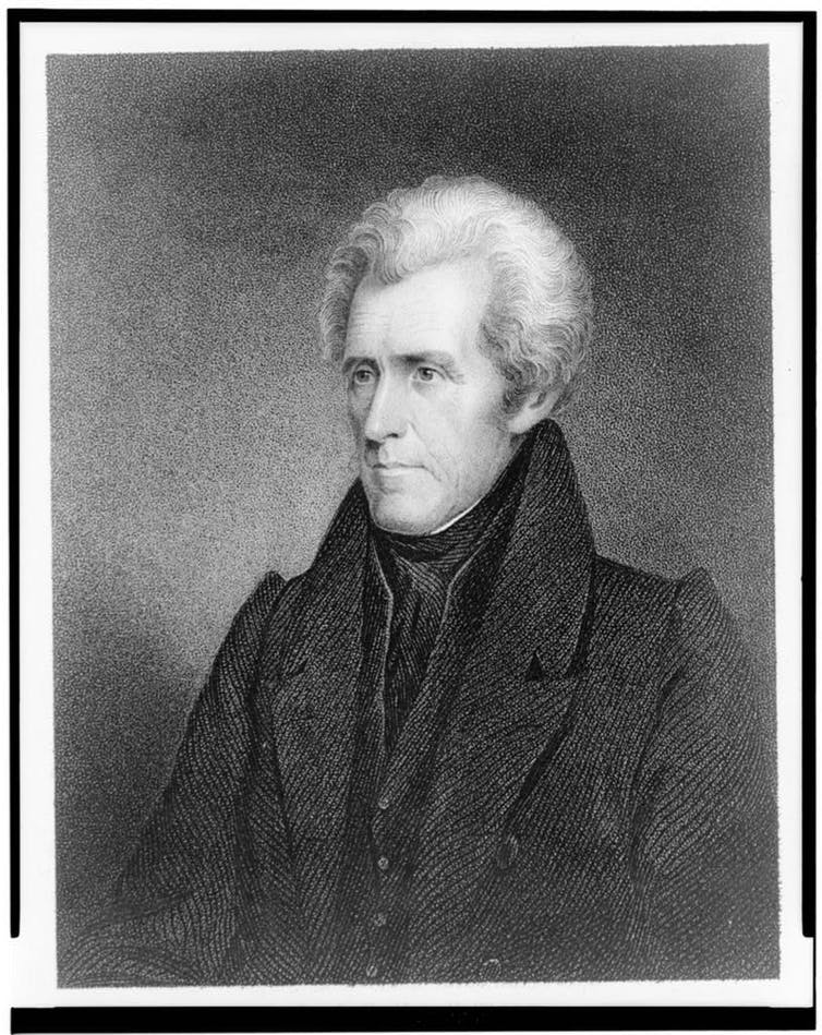 A portrait of Andrew Jackson, the seventh U.S. president. Thomas Jefferson said 'His passions are terrible.'
