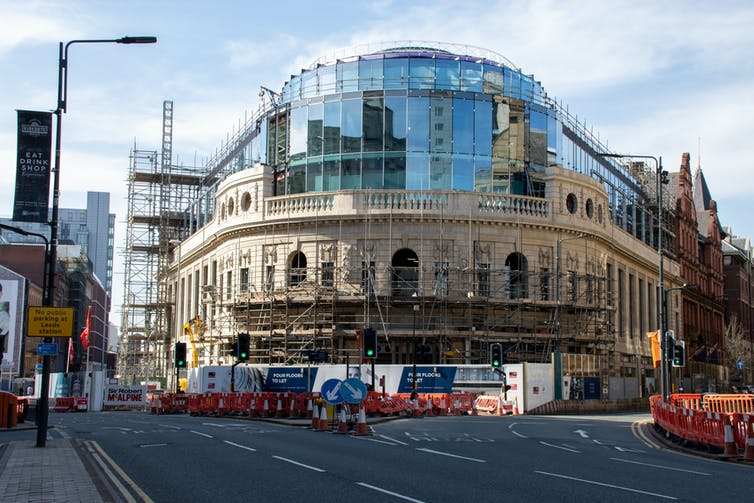 Channel 4's new offices under construction in Leeds.
