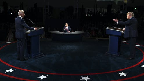 Donald Trump and Joe Biden participate in the first presidential debate on Sept. 29.