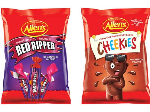 Red Ripper and Cheekies packaging