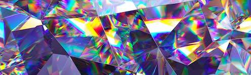 Composición abstracta de prismas coloridos