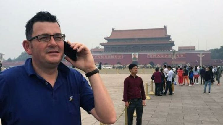 Dan Andrews in Beijing