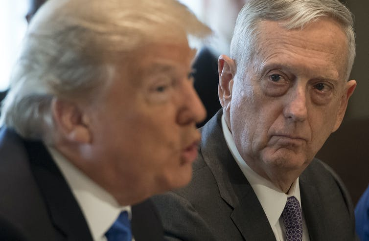President Trump and then-Secretary of Defense Jim Mattis
