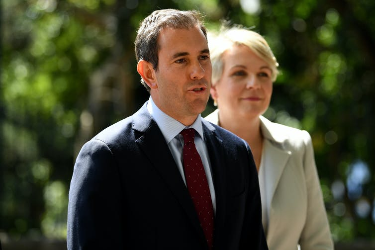 Labor MPs Jim Chalmers and Tanya Plibersek.