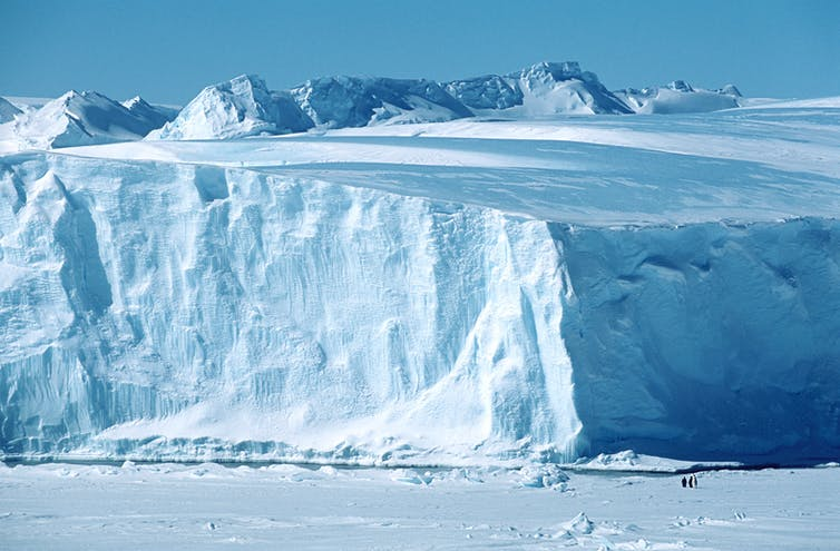 Riiser Larsen Ice Shelf, in Antarctica