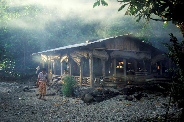 Fale in Samoan village