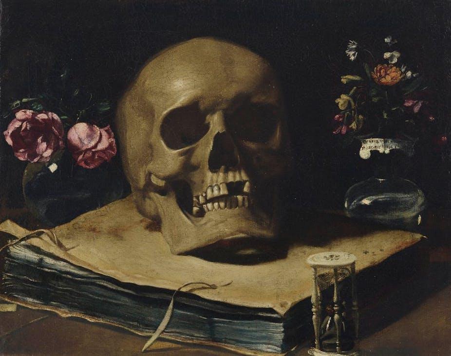 La mort, Giovanni Francesco Barbieri, peinture sur huile.