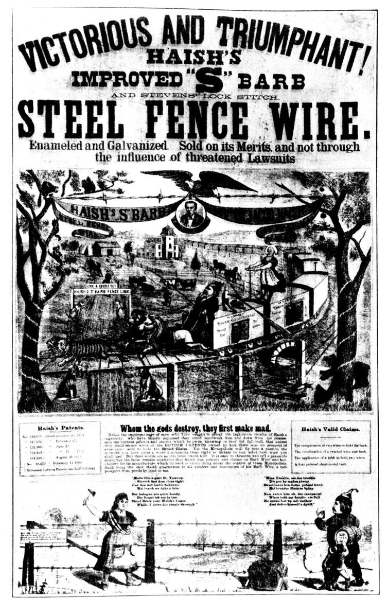 Vintage ad for barbed wire.