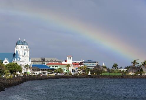 Apia waterfront in Samoa