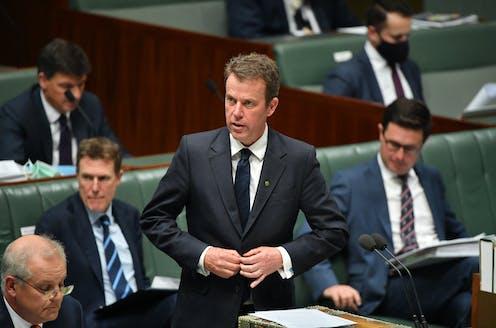 Education Minister Dan Tehan speaks in parliament