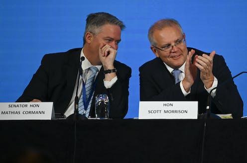 Mathias Cormann and Scott Morrison