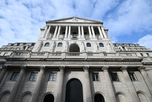 The bank of england against a blue sky