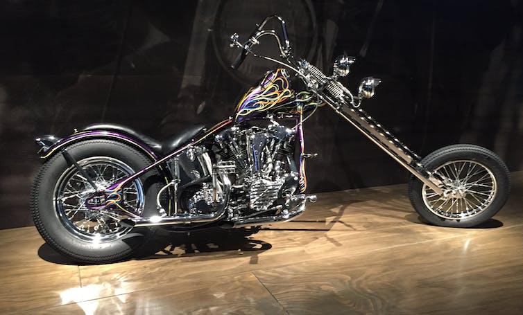 A shiny motorbike