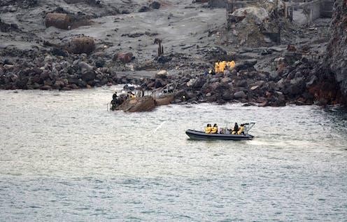 Rescue operation at Whakaari/White Island