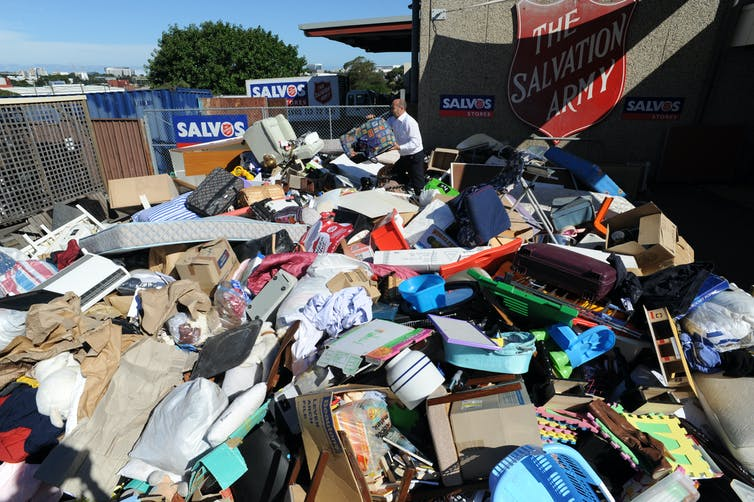 Items dumped at charity store after Christmas