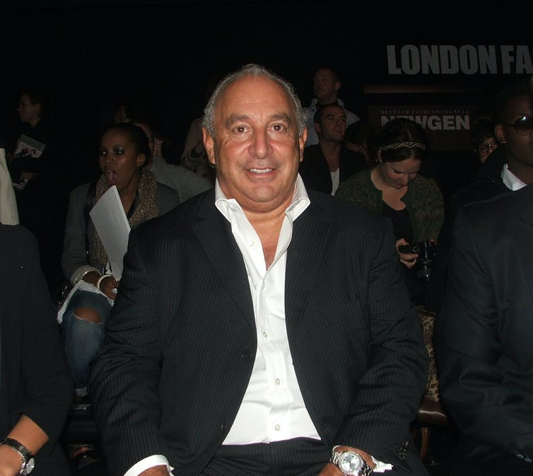 Arcadia owner Philip Green.