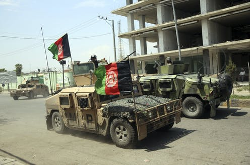 Afghan forces on the streets of Jalalabad