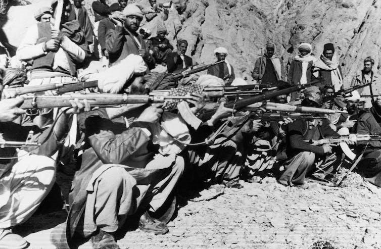 Afghan fighters in 1980